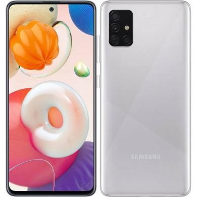 Samsung Galaxy A51 A515 Dual Sim 4GB RAM 128GB Silver <strong>Δώρο Βάση Στήριξης Κινητού</strong>