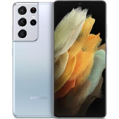 Samsung Galaxy S21 Ultra G998 5G Dual Sim 12GB RAM 128GB Silver <strong>Δώρο Βάση Στήριξης Κινητού</strong>