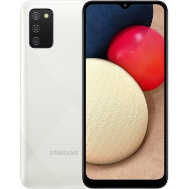 Samsung Galaxy A02s A025G/DSN Dual Sim 3GB RAM 32GB White EU <strong>Δώρο Βάση Στήριξης Κινητού</strong>