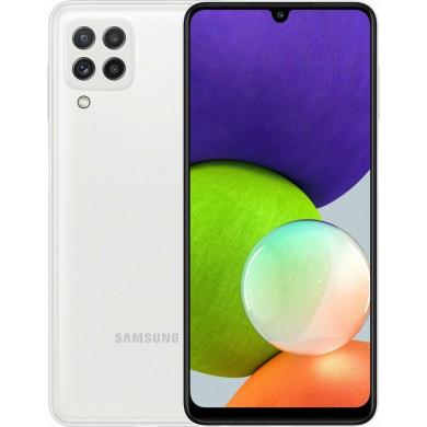Samsung Galaxy A22 A225 Dual Sim 4GB RAM 128GB White EU <strong>Δώρο Βάση Στήριξης Κινητού</strong>